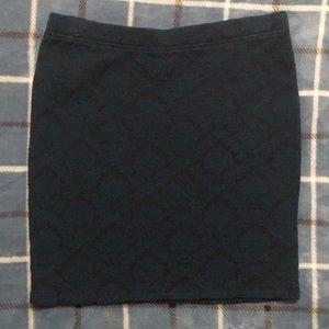 Forever 21 green and black mini-skirt medium